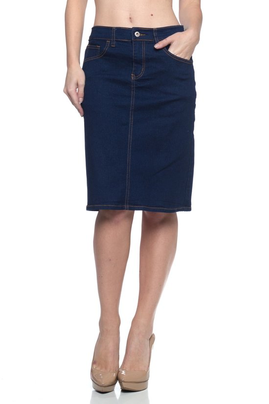 Grace Dark Indigo Denim Skirt