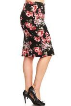 Black Floral Bella Skirt