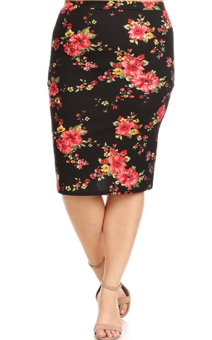 Bella Pink Flower Skirt