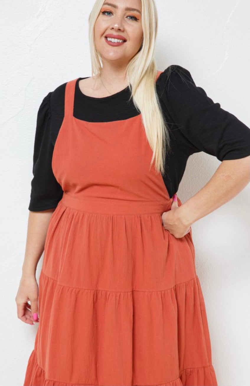 Ana Cotton Overall Dress