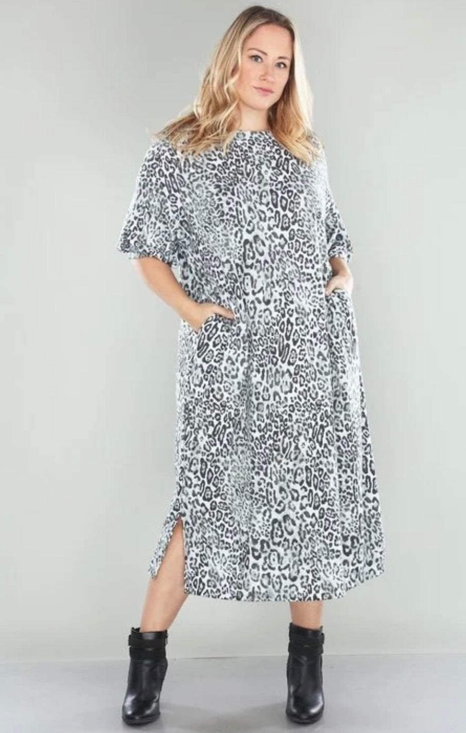 Plus Heather Leopard Dress