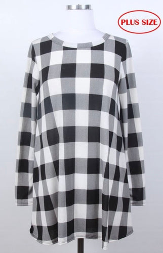 Annie Buffalo Plaid Tunic