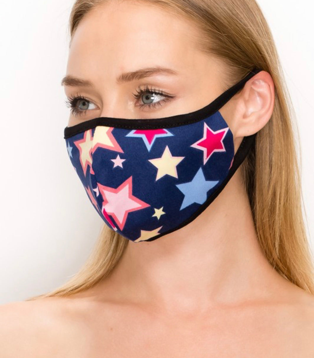 Multi Colored Star Mask