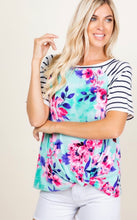 Zoe Floral and Stripe Tunic
