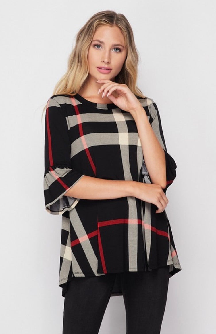 Jewel Plaid Tunic