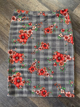 Ansley Floral on Plaid Skirt