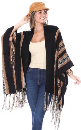 Alexa Fringed Cape