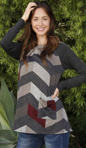 Allie Chevron Tunic
