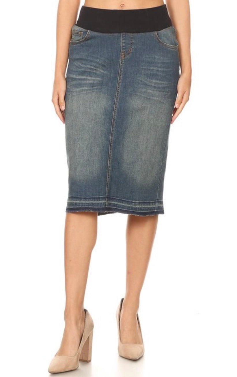 Ashley Maternity Denim Skirt