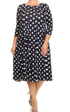 Plus Cassidy Polka Dot Swing Dress