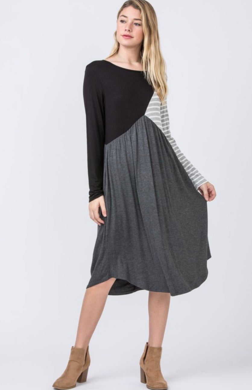 Esther Color Block Dress