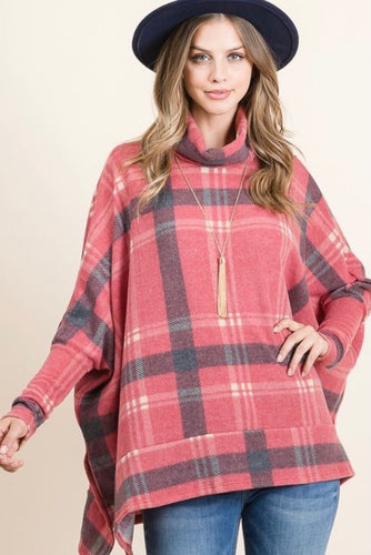 Ashton Plaid Poncho