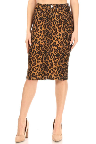 Amy Leopard Skirt