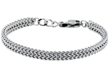 Load image into Gallery viewer, Mens Double Franco Polished Stainless Steel Adjustable Thin Bracelet - Blackjack Jewelry