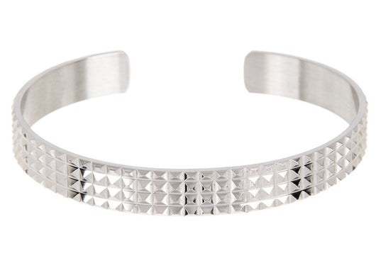 Mens Stainless Steel Bangle - Blackjack Jewelry