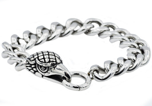 Mens Stainless Steel Eagle Bracelet