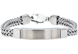 Mens Stainless Steel ID-Engraveable Bracelet