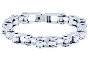 Mens Stainless Steel Bracelet - Blackjack Jewelry