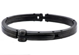 Mens Black Plated Stainless Steel Bracelet - Blackjack Jewelry