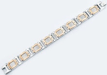 Load image into Gallery viewer, Mens Wide Rose Stainless Steel Bracelet With - Blackjack Jewelry