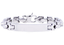 Load image into Gallery viewer, Mens Stainless Steel ID- Engraveable Bracelet - Blackjack Jewelry