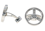 Mens Stainless Steel Steering Wheel Cuff Links