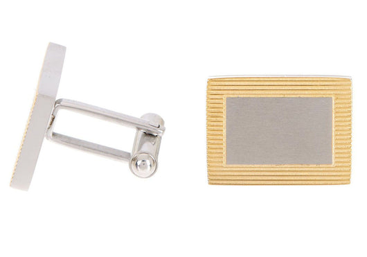 Mens Gold Plated Stainless Steel Cuff Links