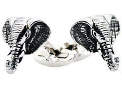 Mens Stainless Steel Elephant Cuff Links