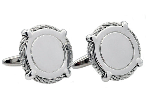 Mens Stainless Steel Cuff Links - Blackjack Jewelry