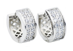 Mens Stainless Steel Earrings With Cubic Zirconia
