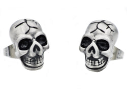 Mens Stainless Steel Skull Earrings