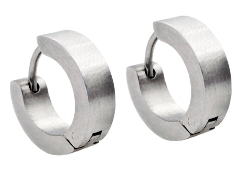 Mens Stainless Steel Earrings - Blackjack Jewelry