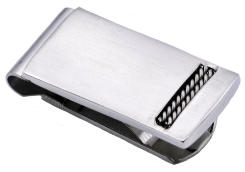 Mens Stainless Steel Money Clip - Blackjack Jewelry