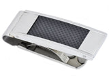 Mens Carbon Fiber And Stainless Steel Money Clip