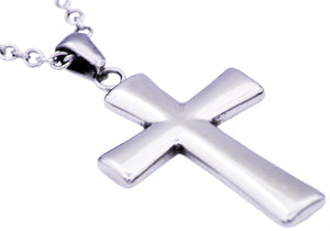 Mens Stainless Steel Cross Pendant - Blackjack Jewelry