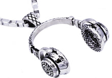 Load image into Gallery viewer, Mens Stainless Steel Headphone Pendant - Blackjack Jewelry