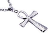Mens Stainless Steel Ankh Cross Pendant