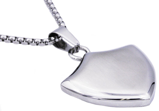 Mens Stainless Steel Sheild Pendant