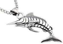 Load image into Gallery viewer, Mens Stainless Steel Sword Fish Pendant - Blackjack Jewelry