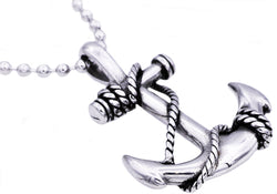 Mens Stainless Steel Anchor Pendant