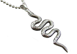 Mens Stainless Steel Snake Pendant