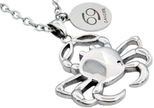 Load image into Gallery viewer, Mens Stainless Steel Zodiac Cancer Pendant - Blackjack Jewelry
