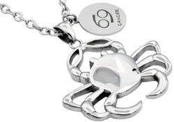 Mens Stainless Steel Zodiac Cancer Pendant - Blackjack Jewelry