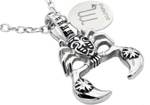 Load image into Gallery viewer, Mens Stainless Steel Zodiac Scorpio Pendant - Blackjack Jewelry