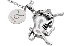 Load image into Gallery viewer, Mens Stainless Steel Zodiac Taurus Pendant - Blackjack Jewelry