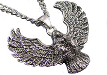 Load image into Gallery viewer, Mens Stainless Steel Eagle Pendant - Blackjack Jewelry