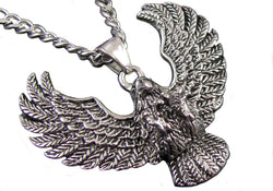 Mens Stainless Steel Eagle Pendant