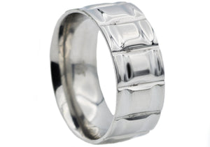 Mens Stainless Steel Band Ring - Blackjack Jewelry