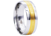 Load image into Gallery viewer, Mens Two Tone Gold Stainless Steel Band - Blackjack Jewelry