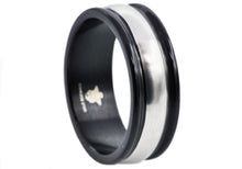 Load image into Gallery viewer, Mens Black Plated Stainless Steel Band - Blackjack Jewelry